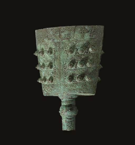 A RARE LARGE BRONZE BELL, NAO