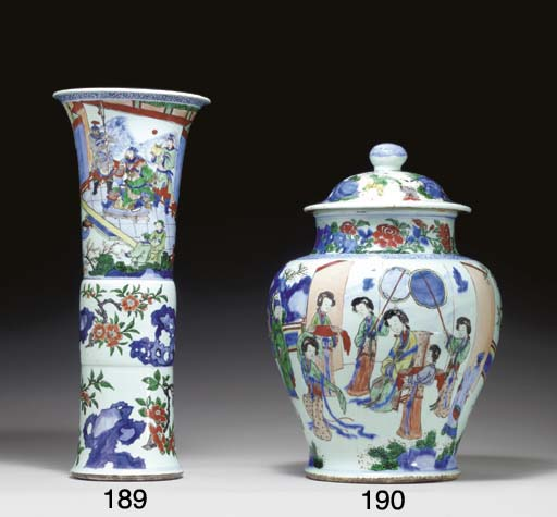 A LARGE WELL-PAINTED WUCAI JAR