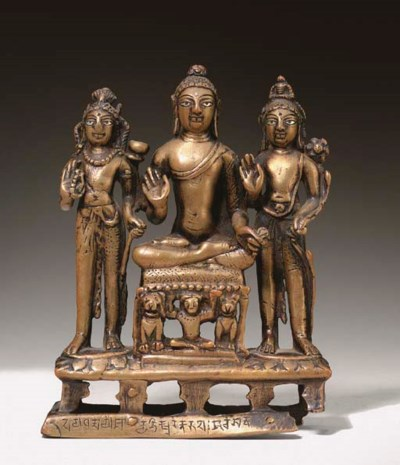 A Bronze Buddhist Triad