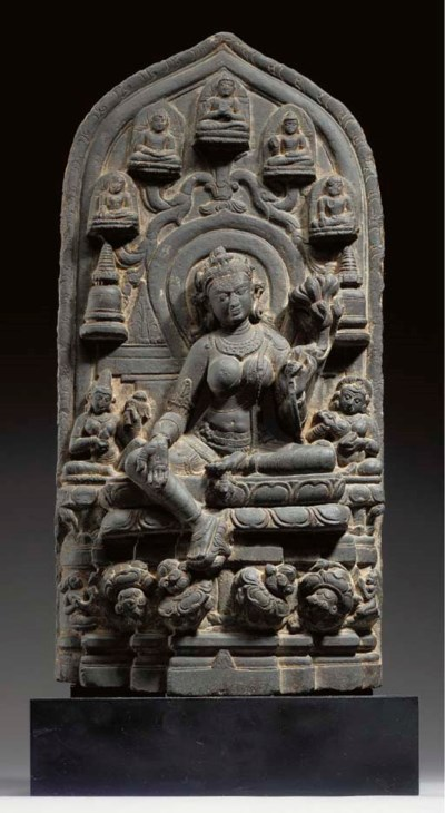 A Black Stone Stele of Tara