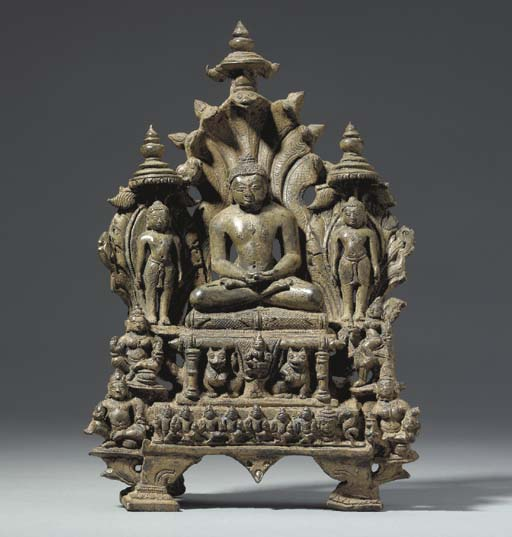 A Bronze Shrine of Parshvanath