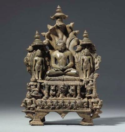 A Bronze Shrine of Parshvanath