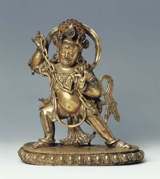 A Gilt Bronze Figure of Vajras