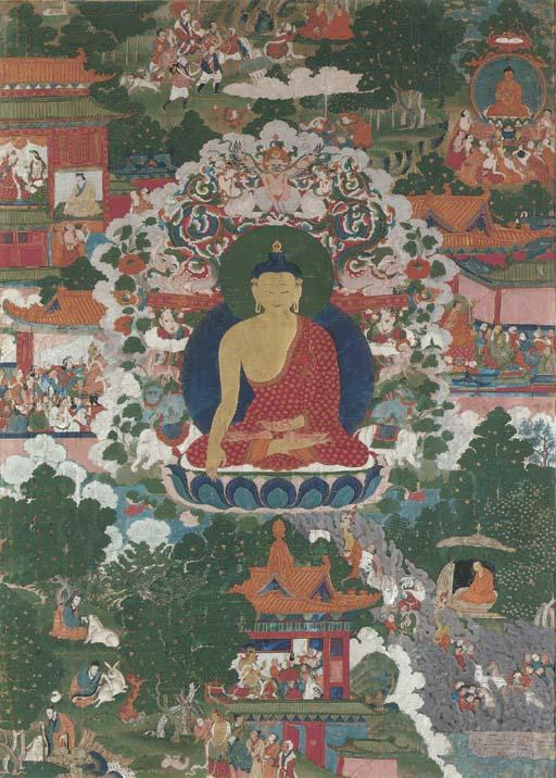 An Avadana Thangka