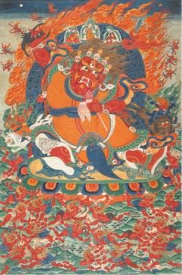 A Thangka of Begtse