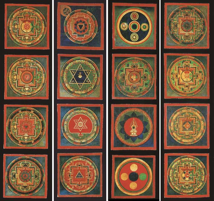 A Set of Sixteen Mandala of Dz