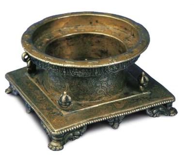 A Vajra-Decorated Bronze Yantr