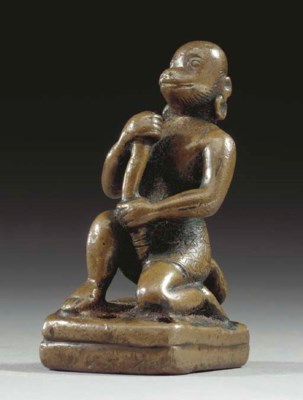 A Small Bronze Figure of Hanum