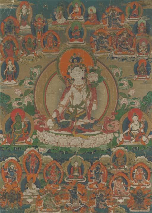 A Thangka of White Tara