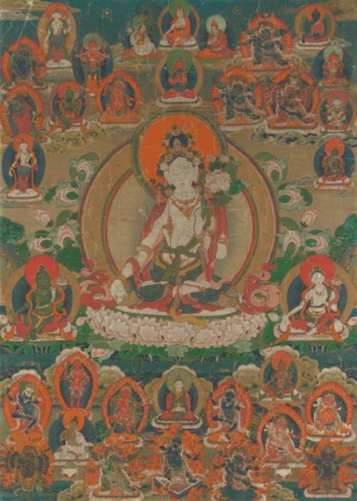 A Thangka of White Tara