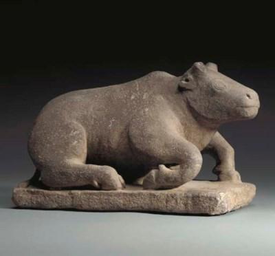 A Stone Figure of Nandi