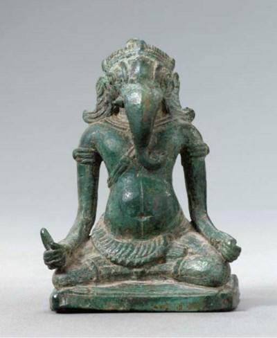 A Rare Bronze Figure of Ganesh