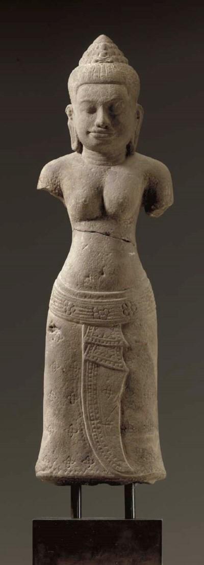 A Sandstone Figure of a Female