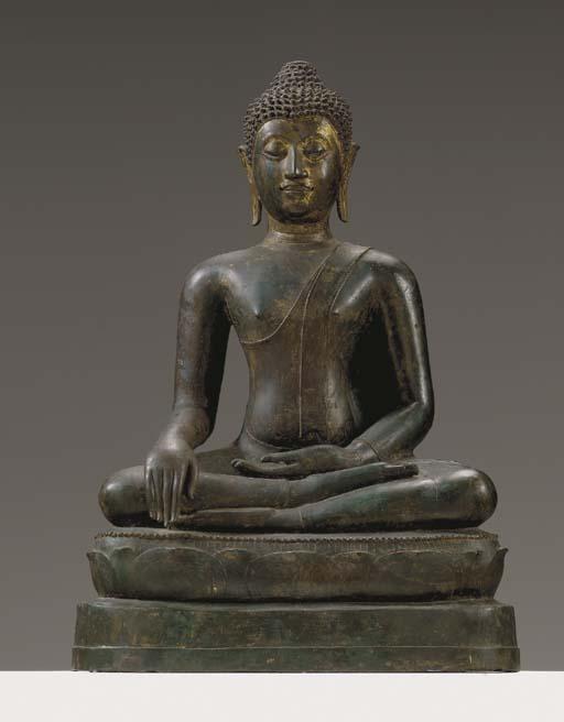 A Large Bronze Buddha