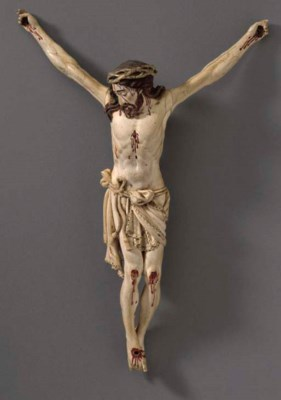 An Ivory Figure of Christ**