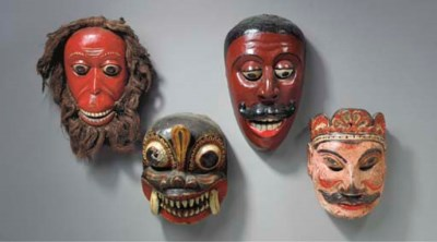 A Group of Four Masks