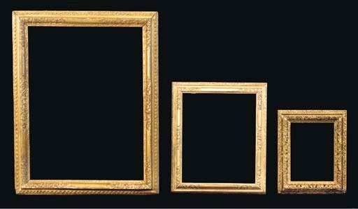 A group of three English frame