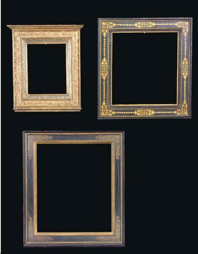A group of three various gilt