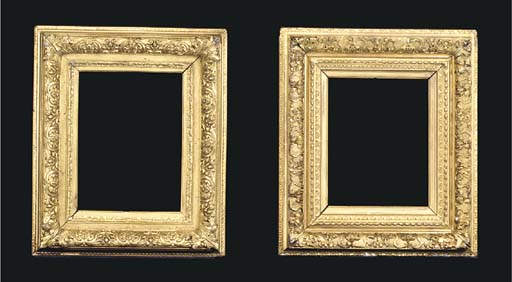 A pair of French gilded compos
