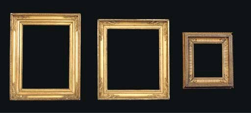 A group of three various frame