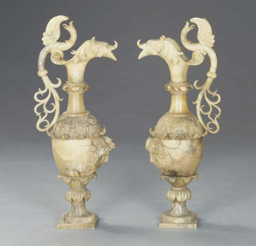 A PAIR OF NEOCLASSIC STYLE ALA
