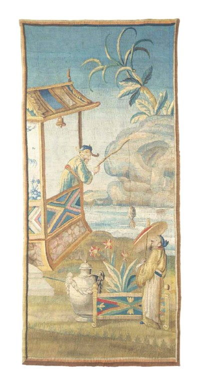 AN AUBUSSON CHINOISERIE TAPEST