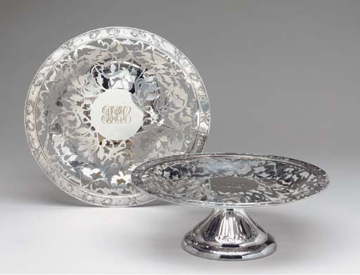 AN AMERICAN SILVER TAZZA TOGET