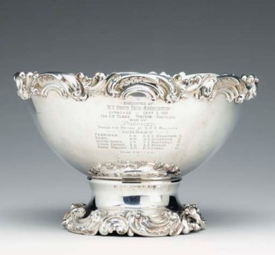 AN AMERICAN SILVER PUNCH BOWL,