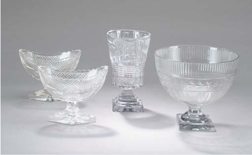 A GROUP OF ANGLO-IRISH GLASS W