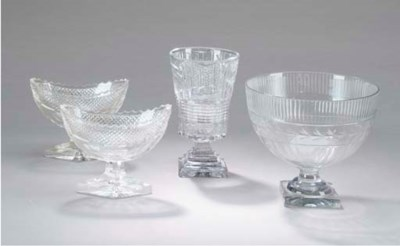 A GROUP OF ANGLO-IRISH GLASS W