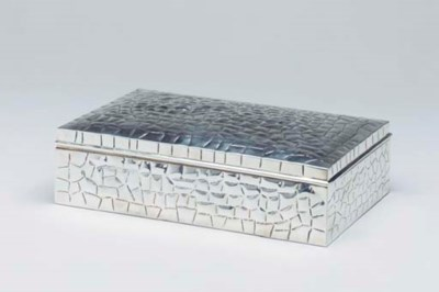 A FRENCH SILVER BOX,