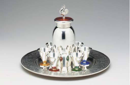 A NORWEGIAN SILVER AND ENAMEL