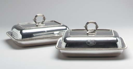 A PAIR OF GEORGE IV SILVER ENT