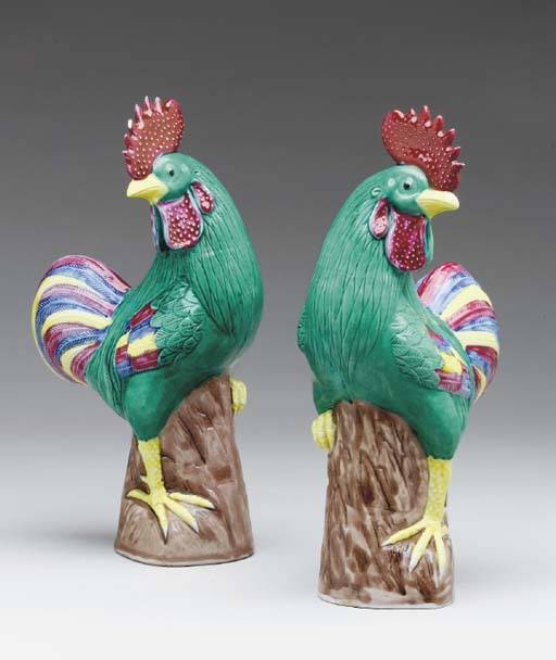 A PAIR OF CHINESE PORCELAIN RO