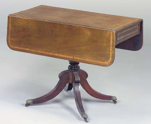 A GEORGE III SATINWOOD-INLAID