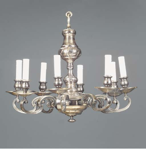 A BAROQUE STYLE SILVERED METAL