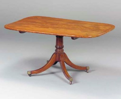 A REGENCY INLAID MAHOGANY BREA