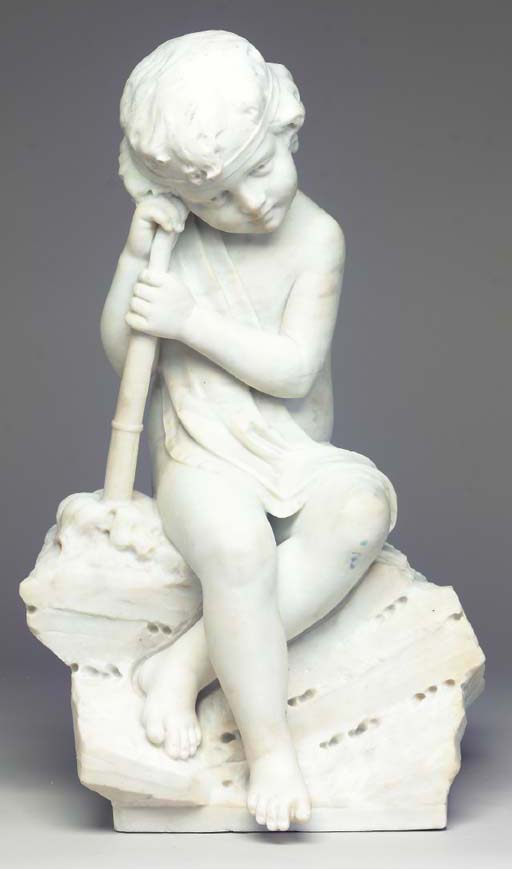 AN ITALIAN MARBLE SCULPTURE OF