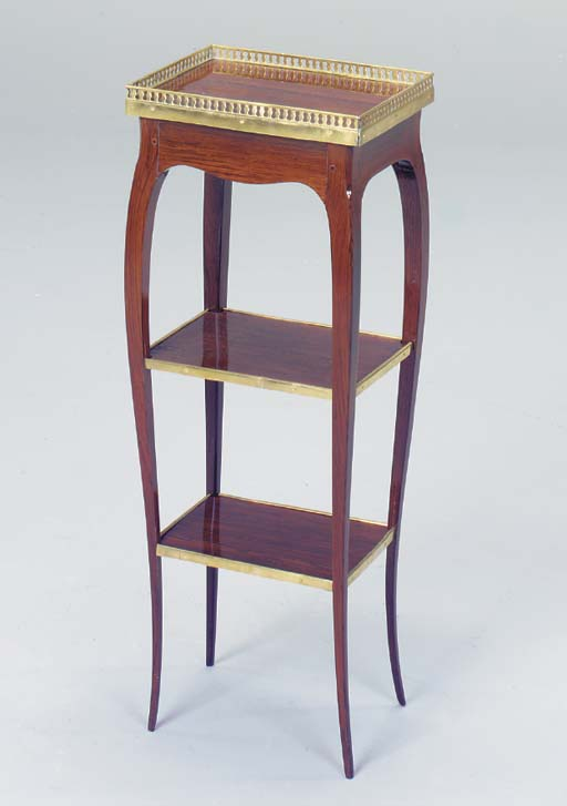 A LOUIS XV STYLE ROSEWOOD OCCA