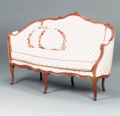 A LOUIS XV STAINED-BEECHWOOD C
