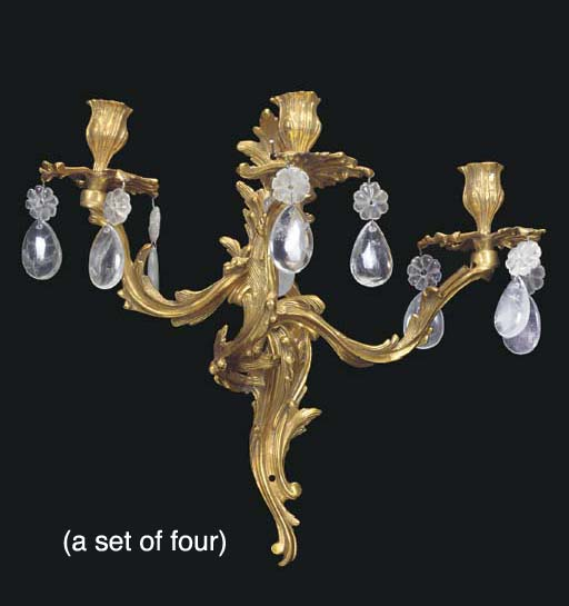 A SET OF FOUR LOUIS XV STYLE G