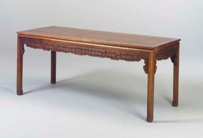A CHINESE HARDWOOD TABLE,