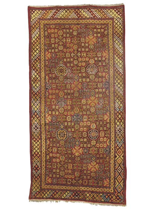 A KHOTAN GALLERY CARPET