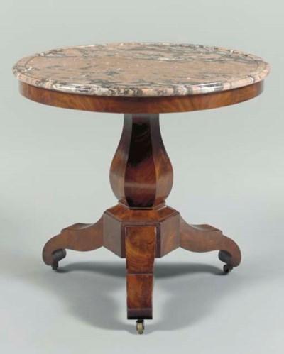 A LOUIS-PHILIPPE MAHOGANY TABL