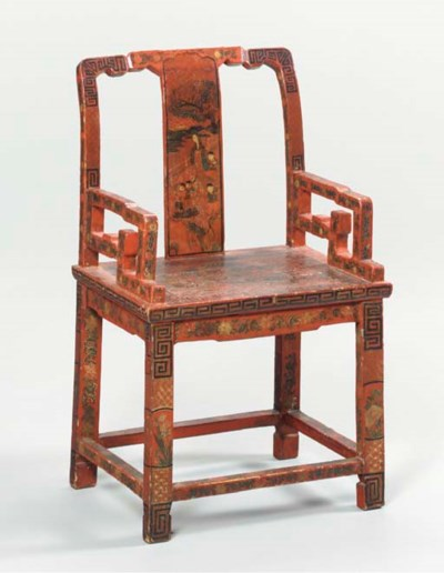 A CHINESE INCISED POLYCHROME A
