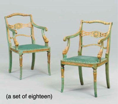 A SET OF EIGHTEEN REGENCY STYL