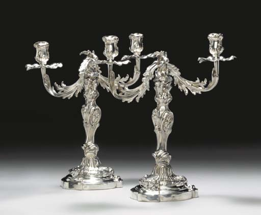 A PAIR OF CONTINENTAL SILVER T