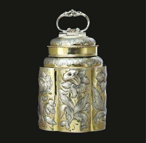 A FINE GERMAN SILVER-GILT CANN