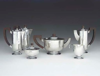 A GEORGE VI SILVER SIX-PIECE T