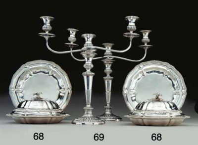 TWO PAIRS OF WILLIAM IV SILVER